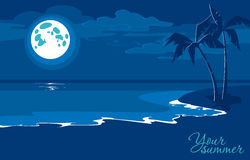 Seaside background with summer night Royalty Free Stock Photo