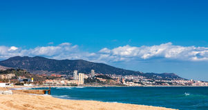 Seaside in Badalona. Barcelona Royalty Free Stock Image
