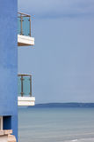 Seaside balconies Stock Photography