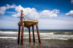 Seaside Baltic construction Royalty Free Stock Images