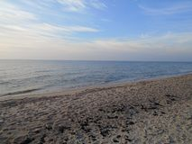 Seaside Baltic Sea in Kaliningrad oblast royalty free stock photos