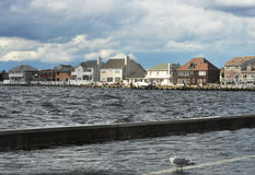 Seaside bay view New Jersey. View of Seaside bay inlet with beautiful sunny skies Stock Image