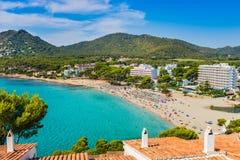Seaside beach at coast of Majorca island, Spain royalty free stock images