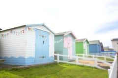 Seaside beach hut in dorset in the uk Stock Photos
