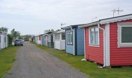 Seaside beach huts Stock Photos