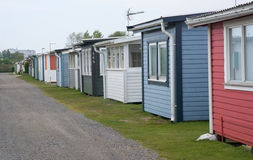 Seaside Beach Huts In Skrea Strand Stock Photography