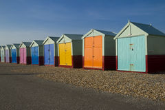 Seaside beach huts Royalty Free Stock Photos