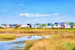 Seaside beach huts Stock Photo