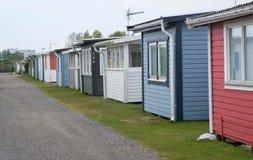 Seaside beach huts in Skrea Strand Stock Photography