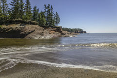 Seaside. A Beach in Saint Martins New Brunswick Stock Photo