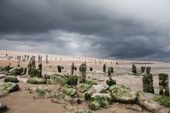 Seaside beach storm coast Stock Image