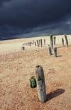 Seaside beach storm coast Stock Images