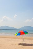 Seaside beach umbrella Stock Image