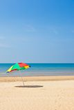 Seaside beach umbrella. This is a picture of the sea and beach umbrellas I was taken in summer Royalty Free Stock Image