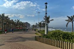 Seaside beach walk alley by uShaka in Durban Royalty Free Stock Image