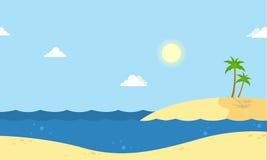 Seaside beautiful scenery cartoon vector Stock Photos