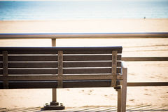Seaside Bench Royalty Free Stock Photography