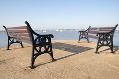 Seaside benches Stock Images