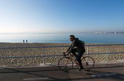 Seaside bicycling route Royalty Free Stock Images