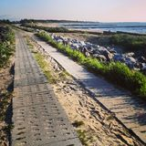 Seaside bike path in Poland Stock Photography