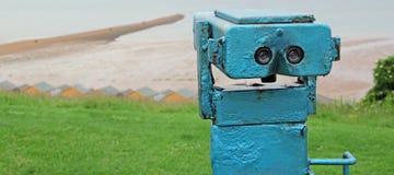 Seaside binoculars Stock Photo