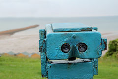 Seaside binoculars Royalty Free Stock Image
