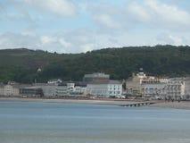 Seaside, blue sky Stock Images