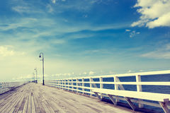 Seaside boardwalk in Brisbane Stock Photography