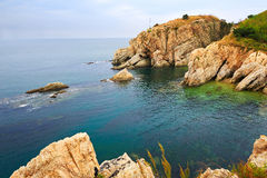 The seaside boulder landscape dalian Royalty Free Stock Image