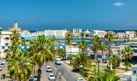 Seaside boulevard in Algiers, the capital of Algeria. North Africa stock photography