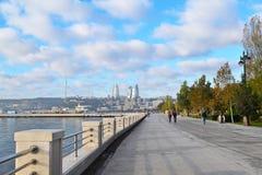 Seaside boulevard. In Baku, Azerbaijan Royalty Free Stock Image