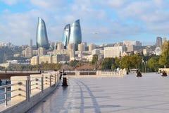 Seaside boulevard. In Baku, Azerbaijan Stock Photography