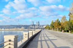 Seaside boulevard. In Baku, Azerbaijan Royalty Free Stock Photos