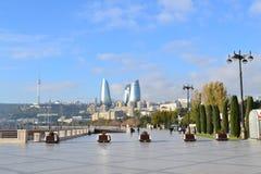 Seaside boulevard. In Baku, Azerbaijan Royalty Free Stock Images