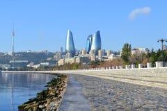 Seaside boulevard. In Baku, Azerbaijan Stock Image