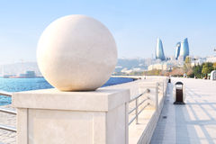 Seaside boulevard. In Baku, Azerbaijan Stock Photo