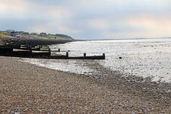 Seaside breakwater sea defences Royalty Free Stock Photography