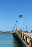Seaside bridge Royalty Free Stock Photography