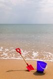 Seaside bucket and spade Stock Image