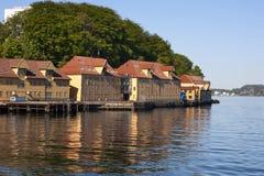 Seaside buildings Stock Images