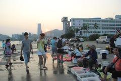 The seaside Busy market in shekou SHENZHEN CHINA AISA Stock Image