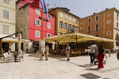 Seaside Café. Split. SPLIT, CROATIA - MAY 19, 2013: people are taking a brake in one of the street cafe in Split. On May 19, 2013, in Split, Croatia Royalty Free Stock Photos