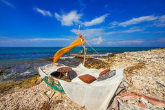A seaside cafe near Zakynthos town Royalty Free Stock Images