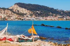 A seaside cafe near Zakynthos town Royalty Free Stock Photos