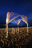 Seaside cafe at night Royalty Free Stock Photography