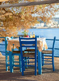 Seaside cafe terrace Royalty Free Stock Photography