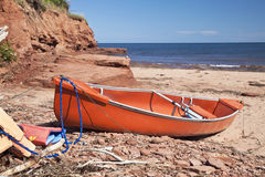 Seaside Canoe Stock Image