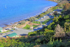 Seaside carpark Stock Photography