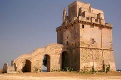 Seaside Castel. Detail a Castel in Puglia royalty free stock image
