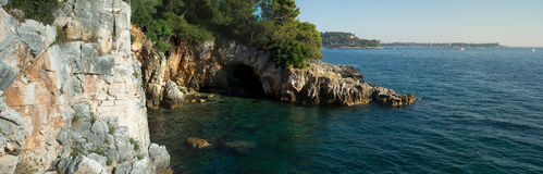 Seaside cave entrance Stock Image